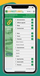 GoFastLinks Personalized Links screenshot